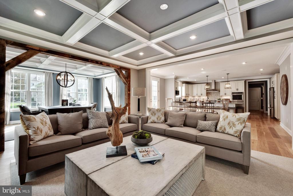 Custom ceiling in family room - 600 W K ST, PURCELLVILLE