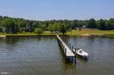 View from Potomac Creek of shared dock - 2632 LYNN ALLEN RD, KING GEORGE