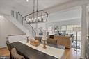 Dining room open to living room - 1174 N VERNON ST, ARLINGTON