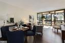 Dining Room Opens Up Nicely to Living Room! - 1001 N RANDOLPH ST #214, ARLINGTON