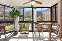 Sunroom - Worth a $20,000 Premium Over Balconies! - 1001 N RANDOLPH ST #214, ARLINGTON