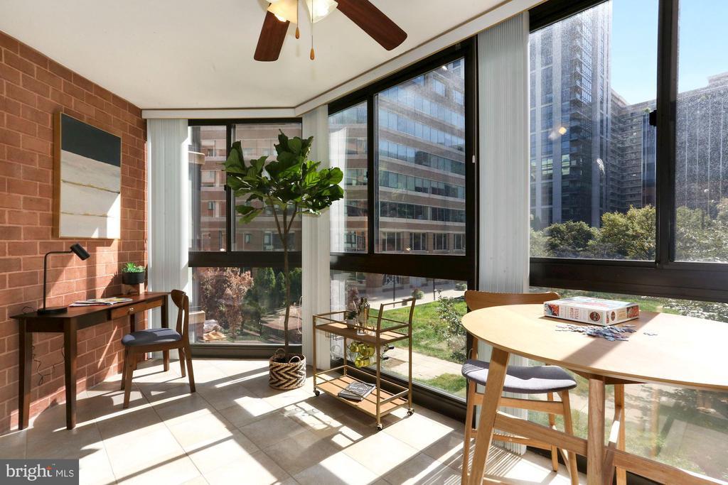 Bright Sunroom - New Floor-to-Ceiling Windows! - 1001 N RANDOLPH ST #214, ARLINGTON