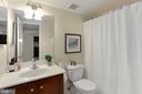 Bathroom - Cherry Wood Vanity - 1001 N RANDOLPH ST #214, ARLINGTON