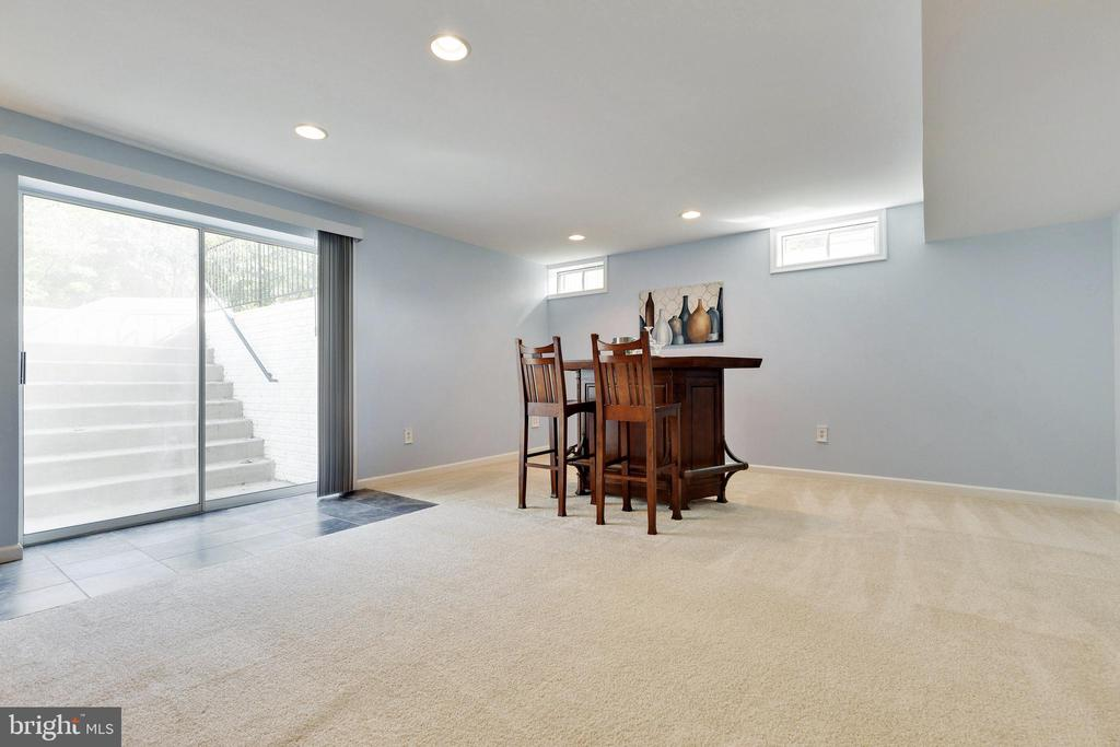 Basement Rec Room has walk-up stairs to Backyard - 48 BOULDER DR, STAFFORD