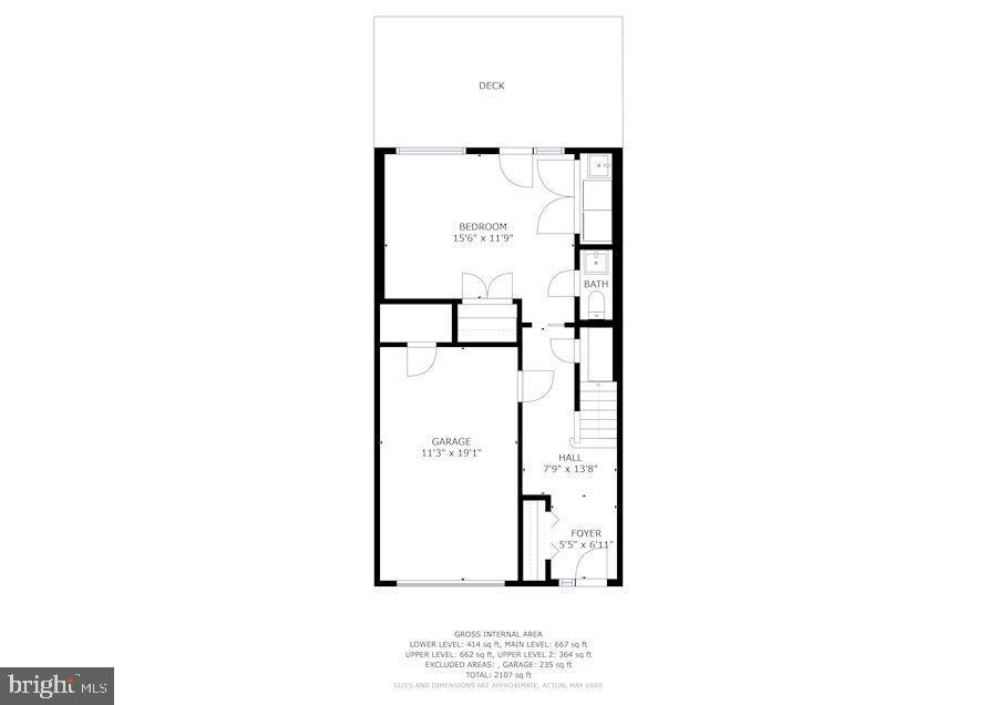 Lower level, rec room garage - 1174 N VERNON ST, ARLINGTON