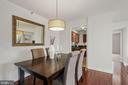 Dining area w/convenience to the kitchen - 1301 N COURTHOUSE RD #801, ARLINGTON