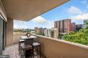 Private covered balcony w/views - 1301 N COURTHOUSE RD #801, ARLINGTON