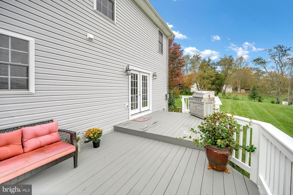Lots of space on the back deck to entertain. - 20 VAN HORN LN, STAFFORD