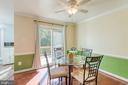 Dining room with access to deck. - 3608 EAGLE ROCK CT, WOODBRIDGE
