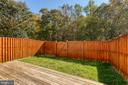 Fenced in yard - 3608 EAGLE ROCK CT, WOODBRIDGE