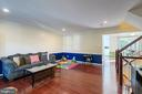 Large family room - 3608 EAGLE ROCK CT, WOODBRIDGE