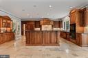Gourmet kitchen with two islands - 7984 GEORGETOWN PIKE, MCLEAN