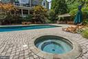 Hot tub next to pool - 7984 GEORGETOWN PIKE, MCLEAN