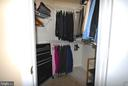 Plenty of space in second bedroom walk  in closet - 46580 DRYSDALE TER #300, STERLING