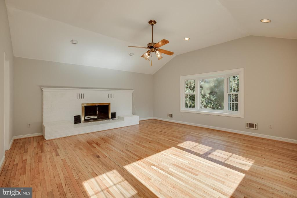 Family Room with Gas Fireplace - 12813 LAYHILL RD, SILVER SPRING