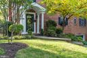Covered entry to all brick home - 3502 HALCYON DR, ALEXANDRIA