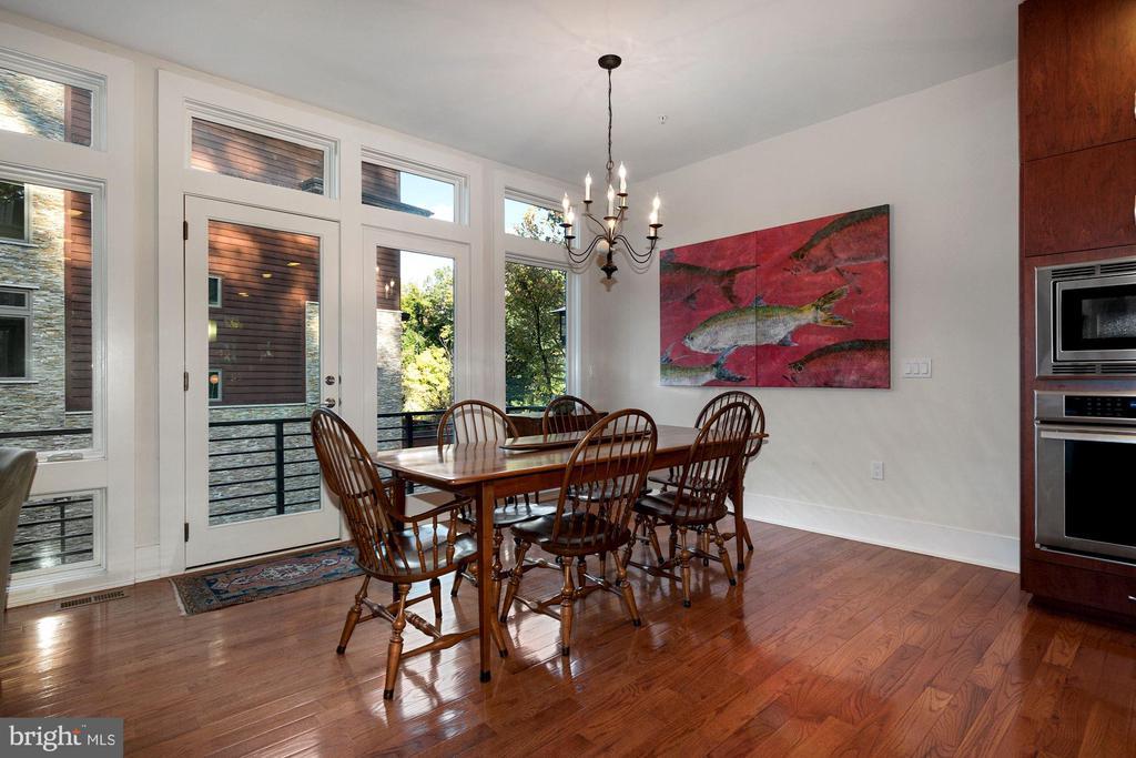 Dining Area with Balcony - 5204 WILLET BRIDGE CT, BETHESDA