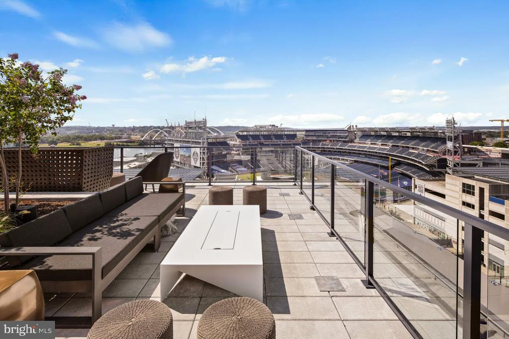 Roof Top w/ views of Nats Park and Rivers - 70 SE N ST SE #N608, WASHINGTON