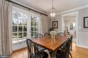 open dining room - 3502 HALCYON DR, ALEXANDRIA
