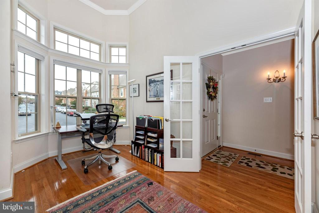 Office offers privacy with the french doors. - 2513 MILL RACE RD, FREDERICK
