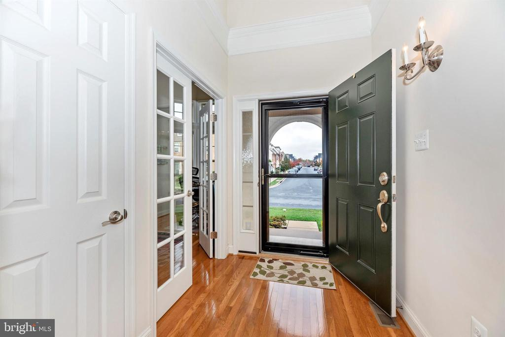 Storm door lets in light & expansive street view. - 2513 MILL RACE RD, FREDERICK