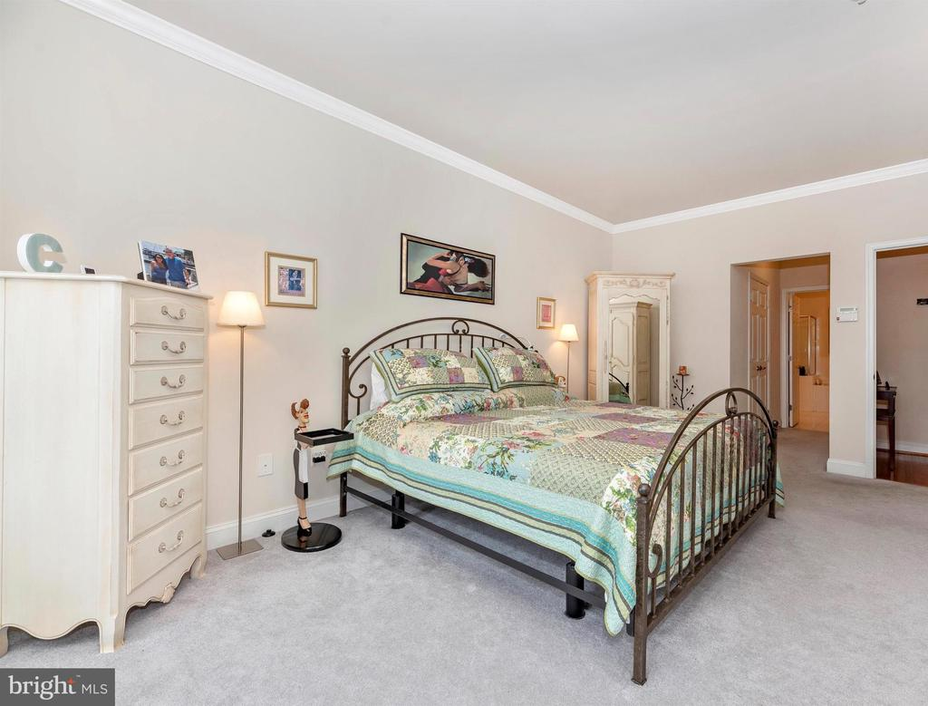 Main level master bedroom suite. - 2513 MILL RACE RD, FREDERICK