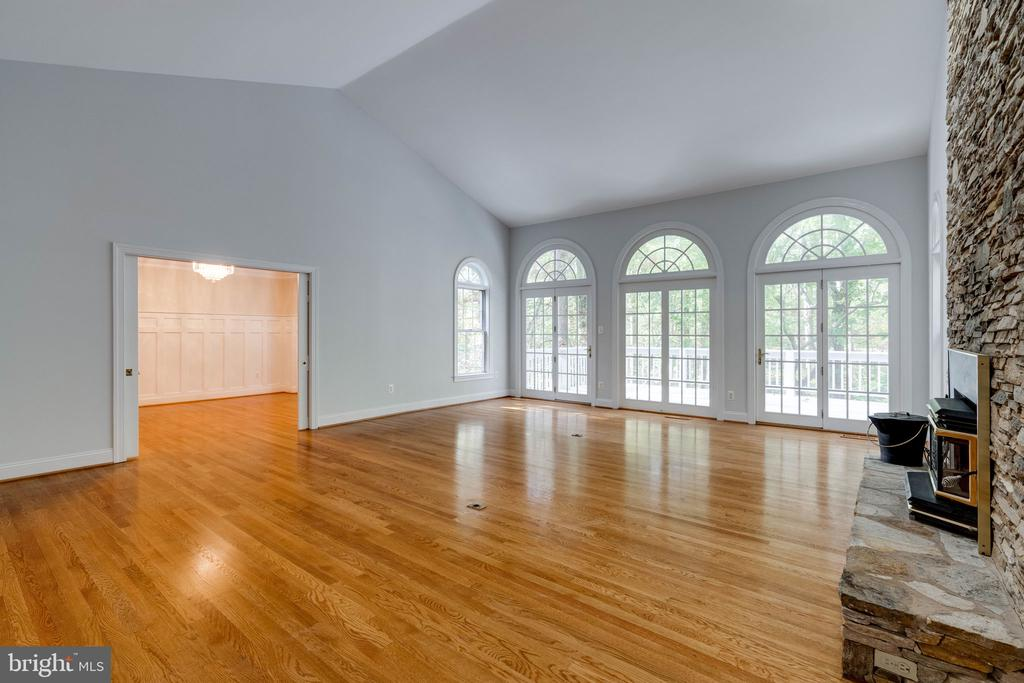 View from office to living and dinning room - 10118 HAMPTON WOODS DR, FAIRFAX STATION