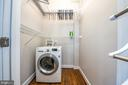 Walk-in closet with combo washer/dryer - 3025 PORTER ST NW #23, WASHINGTON