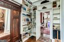Plenty of built-in bookshelves - 210 N KING ST, LEESBURG