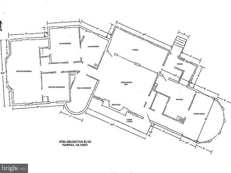 Floor Plan - 8700 ARLINGTON BLVD, FAIRFAX