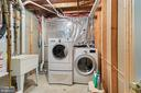 Laundry Area in Basement - 7833 BLUE GRAY CIR, MANASSAS