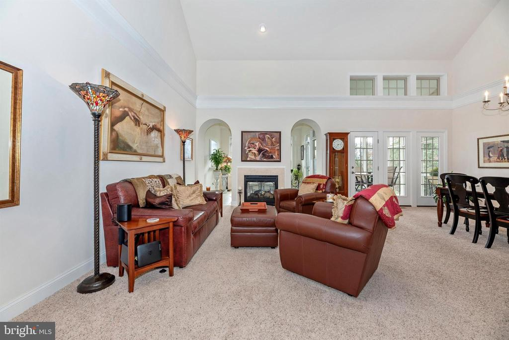 Living Room is part of easy open living space. - 2513 MILL RACE RD, FREDERICK