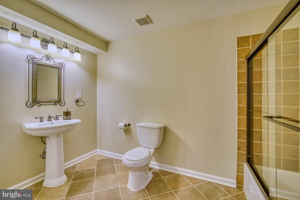 Lower Level Full Bathroom - 10868 GROVEHAMPTON CT, RESTON