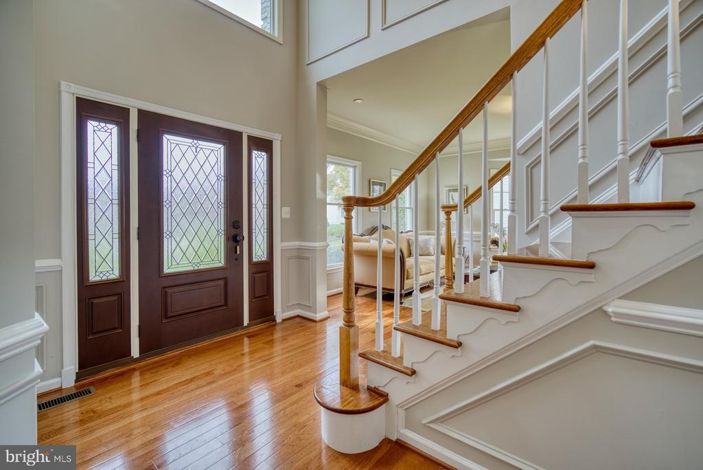 Foyer with Custom Door - 10868 GROVEHAMPTON CT, RESTON