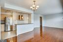View from dining area to living room - 1301 N COURTHOUSE #1607, ARLINGTON