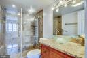 Luxurious shower in primary bathroom - 1301 N COURTHOUSE #1607, ARLINGTON