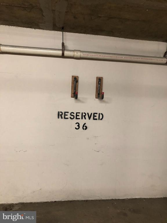Reserved parking in garage - 1301 N COURTHOUSE #1607, ARLINGTON