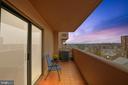 Twilight on the balcony - 1301 N COURTHOUSE #1607, ARLINGTON