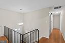 Hallway leading to upper level bedrooms... - 207 ORCHARD CIR, HAMILTON
