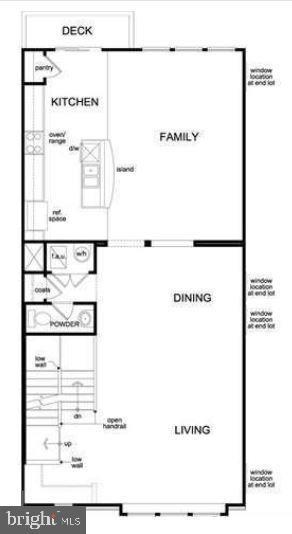 Main level (diagram may vary from unit) - 43976 VAIRA TER, CHANTILLY