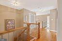 Custom Dual Staircase leads directly to Kitchen - 7893 MEADOWGATE DR, MANASSAS
