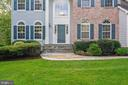 Front Entrance Custom Slate Walkway - 7893 MEADOWGATE DR, MANASSAS