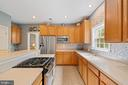 Gourmet Kitchen with Slide In Gas Range - 7893 MEADOWGATE DR, MANASSAS