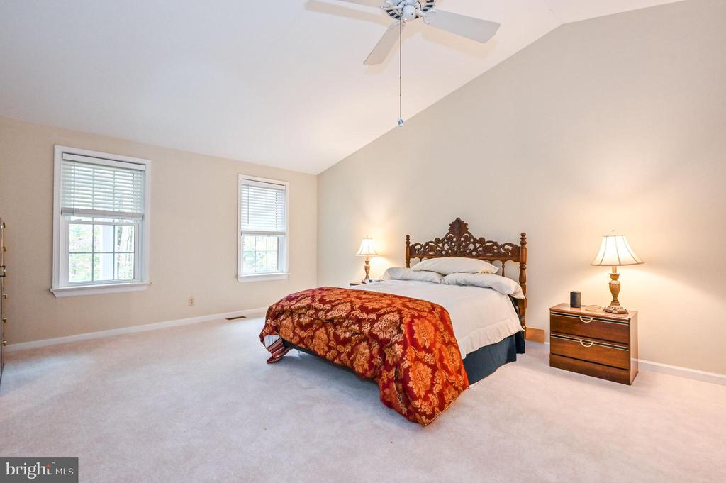 Master Bedroom w Vaulted Ceiling Fan - 5040 CANNON BLUFF DR, WOODBRIDGE