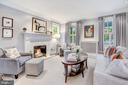 Formal Living with Marble-Clad Fireplace - 3307 MACOMB ST NW, WASHINGTON