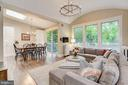 Kitchen & Family Room Open to Spacious Deck - 3307 MACOMB ST NW, WASHINGTON