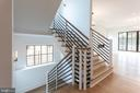 Sample light-filled stairhall and open floorplan - 1608 N CLEVELAND ST, ARLINGTON