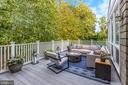 Upper-Level of Spacious Two-Tier Deck - 3307 MACOMB ST NW, WASHINGTON
