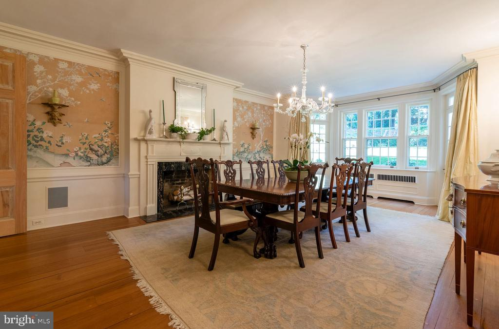 Banquet-size Dining Room with Fireplace - 2829 WOODLAND DR NW, WASHINGTON