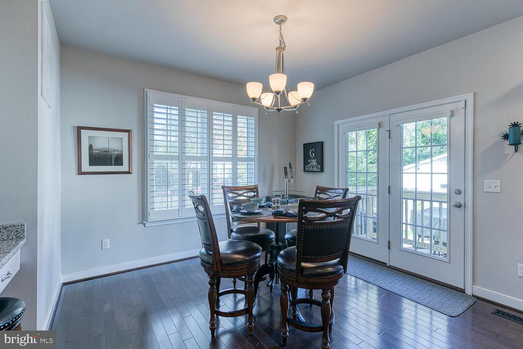 Large Breakfast Room Opens to Back Yard - 1419 HANOVER ST, FREDERICKSBURG